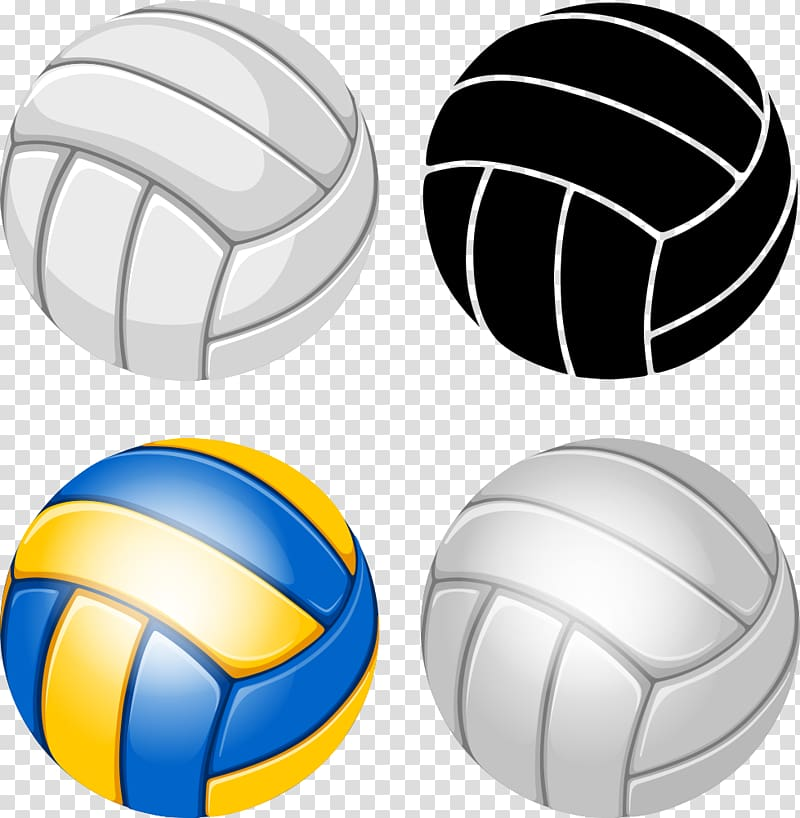 Volleyball yellow white clipart graphic freeuse Four white, black, and yellow volleyballs, Volleyball ... graphic freeuse