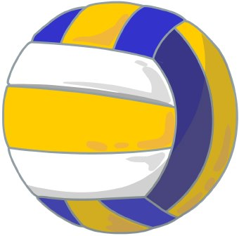 Volleyball yellow white clipart free download Lyons-Decatur Northeast - Activities Volleyball free download