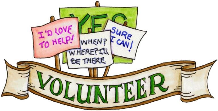 Volunteer clipart gif banner stock volunteer clipart — Blanco Library banner stock