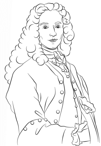 Voltaire clipart clipart transparent Voltaire coloring page   Free Printable Coloring Pages clipart transparent