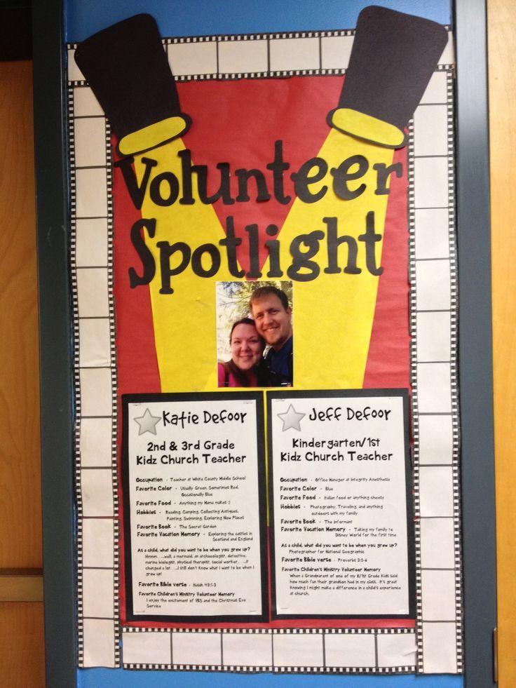 Volunteer spotlight clipart clipart freeuse Kidmin Volunteer Spotlight Board. Great way to highlight ... clipart freeuse