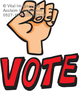 Vote banner clipart clip art freeuse stock Clipart Illustration of an Election Banner clip art freeuse stock