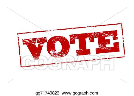 Vote banner clipart image black and white Vector Stock - Vote. Clipart Illustration gg71749823 - GoGraph image black and white
