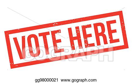 Vote here clipart picture royalty free Vector Stock - Vote here rubber stamp. Clipart Illustration ... picture royalty free