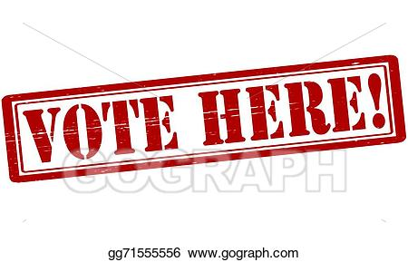 Vote here clipart jpg black and white download Vector Stock - Vote here. Clipart Illustration gg71555556 ... jpg black and white download