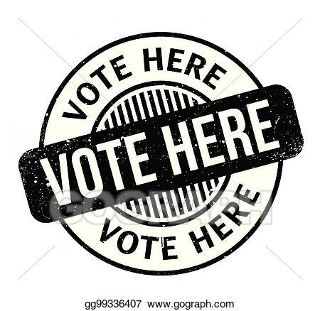 Vote here clipart clip art download Vector Stock - Vote here rubber stamp. Clipart Illustration ... clip art download