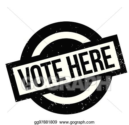 Vote here clipart vector free stock Vector Stock - Vote here rubber stamp. Clipart Illustration ... vector free stock
