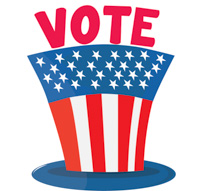Vote here clipart picture black and white download Free Voting & Election Clipart - Clip Art Pictures ... picture black and white download