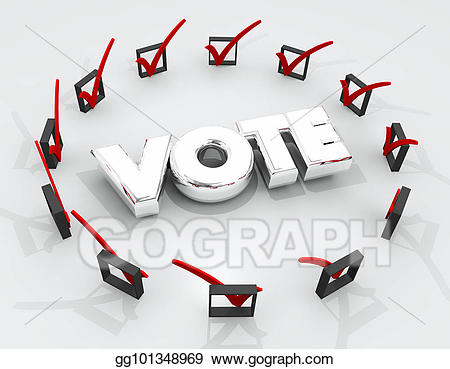 Voter checkbox clipart banner free download Stock Illustration - Vote choose pick election check boxes ... banner free download