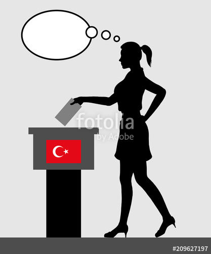 Voter clipart vector silhouette svg download Turkish voter young woman voting for election in Turkey with ... svg download