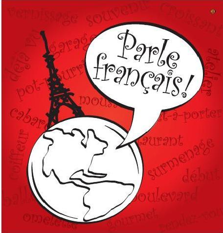 Vous parlez anglais clipart banner stock Parlez vous Français? | Paris and Beyond banner stock