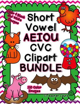 Vowel patterns clipart graphic transparent download Short Vowel CVC Clipart BUNDLE | Classroom | Short vowels ... graphic transparent download