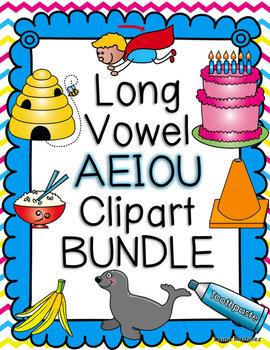 Vowel patterns clipart png free stock Long Vowel AEIOU Clipart BUNDLE- Color & BW | $ Teacher ... png free stock