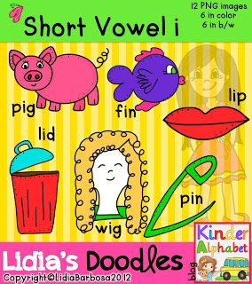 Vowel patterns clipart image royalty free stock Short Vowel i Clip Art with CVC Word Patterns. All short ... image royalty free stock