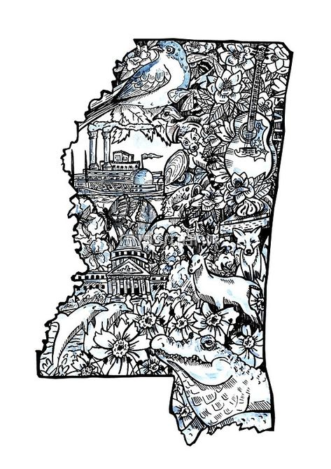 Voyage on the mississippi clipart banner transparent stock My Home Mississippi\' Spiral Notebook by missmann | MissMann ... banner transparent stock