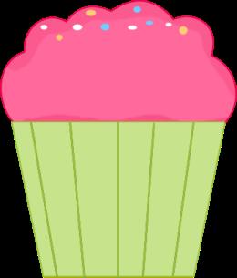 Vs pink clipart clip art black and white stock Cupcake Clip Art - Cupcake Images clip art black and white stock