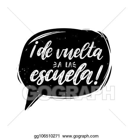 Vuelta clipart banner royalty free stock Vector Stock - De vuelta a la escuela, vector hand lettering ... banner royalty free stock