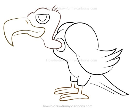 Vulture clipart solid color clip royalty free library How to Draw A Cartoon Vulture clip royalty free library