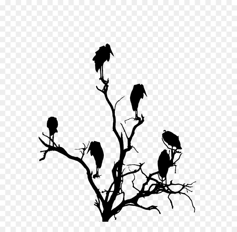 Vulture head silhouette clipart graphic library library Black And White Flower png download - 698*877 - Free ... graphic library library