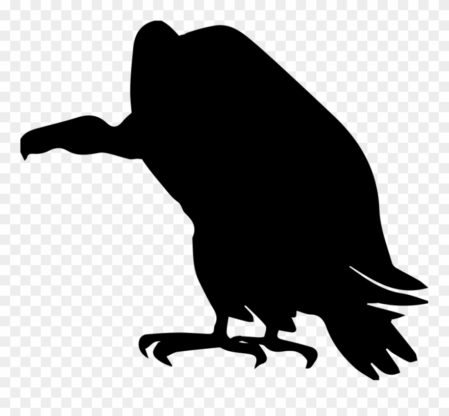 Vulture head silhouette clipart svg black and white library Vulture Bird Shape Comments - Vulture Vector Art Clipart ... svg black and white library