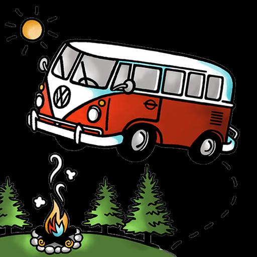 Vw adventure van clipart png royalty free stock Vintage Van Adventures - Maine VW Camper Van Rentals png royalty free stock