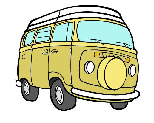 Vw camper cartoon clipart free stock Free Vw Bus Karikatur, Download Free Clip Art, Free Clip Art ... free stock