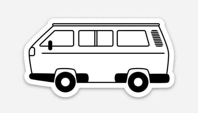 Vw adventure van clipart image royalty free download VW Volkswagen T3 Vanagon Westfalia Camper Hippie Bus Die Cut Car Laptop  Sticker image royalty free download