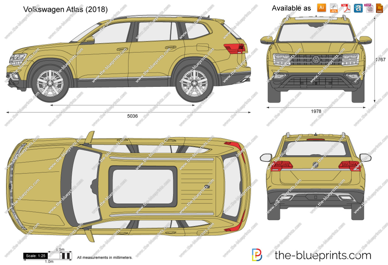 Vw atlas clipart banner freeuse library Volkswagen Atlas vector drawing banner freeuse library