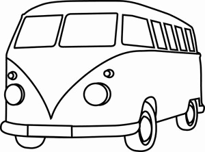 Vw bus clipart black and white jpg free library Vw Bus Line Drawing at PaintingValley.com | Explore ... jpg free library