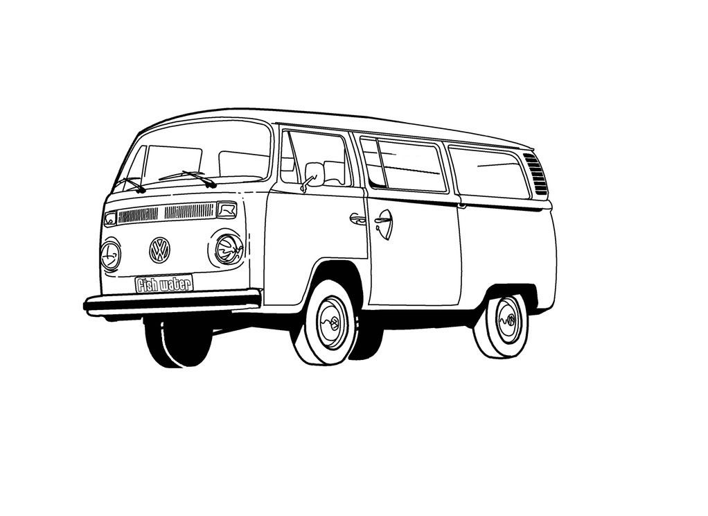 Vw bus clipart black and white clipart black and white download Vw Bus Clip Art A Multi Layer Finished Art | VW Bus | Vw bus ... clipart black and white download