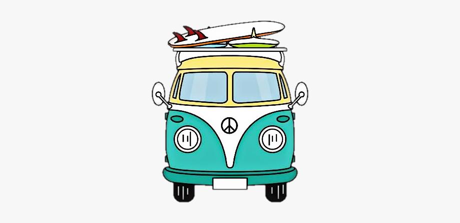 Vw bus hippie clipart jpg black and white stock van #volkswagen - Hippie Van Sticker #2560430 - Free ... jpg black and white stock