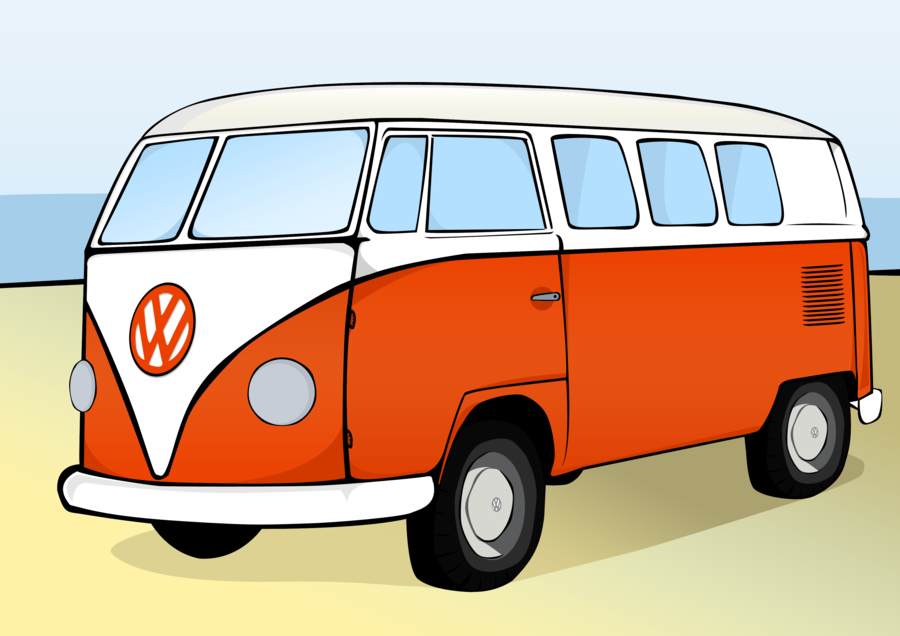 Vw camper cartoon clipart vector transparent library Vw Bus Karikatur Group with 56+ items vector transparent library