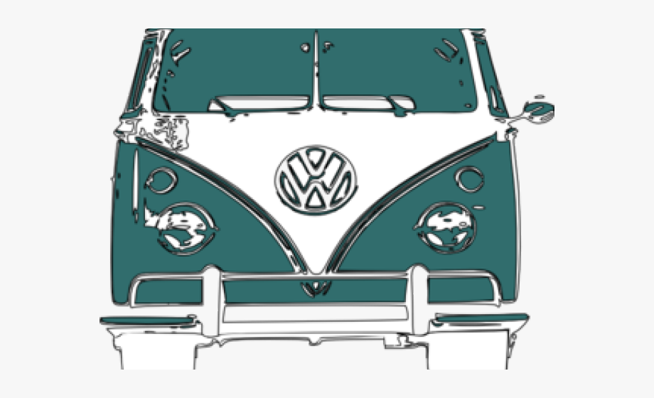 Vw camper clipart royalty free Hippie Clipart Vw Camper Van - Volkswagen Type 2 #392924 ... royalty free