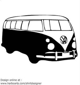 Vw camper clipart clipart free stock Free Vw Campervan Clipart | Free Images at Clker.com ... clipart free stock