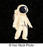 W kosmosie images clipart vector library stock Cartoon astronaut in open cosmos illustration. cosmonaut ... vector library stock