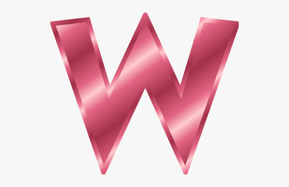 W letter clipart picture library library Alphabet - W - Letter W Color Pink, Cliparts & Cartoons ... picture library library