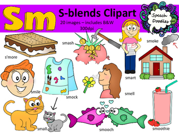 W words clipart royalty free download S Blends clipart - Sm words - 20 images! Personal and Commercial use royalty free download