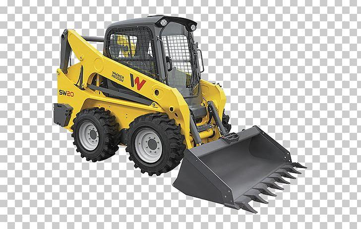 Wacker neuson logo clipart black and white stock Skid-steer Loader Wacker Neuson Heavy Machinery Tracked ... black and white stock
