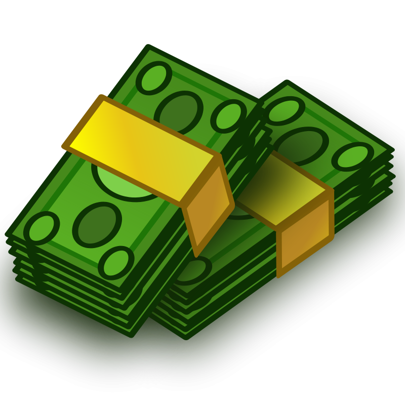 Wad of money clipart clipart transparent stock Free Clipart: Money wads | vokimon clipart transparent stock