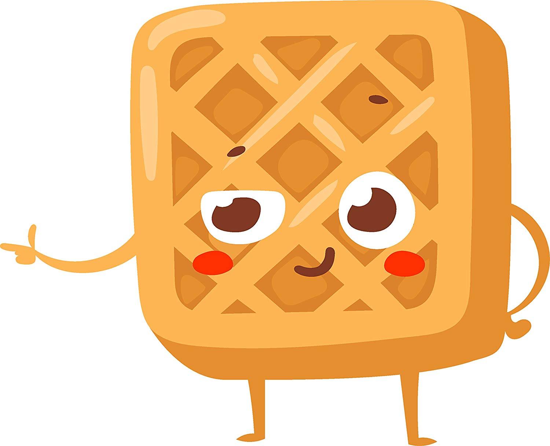 Waffle clipart cute clip royalty free download Amazon.com: Cute Kawaii Bakery Pastry Cartoon Emoji - Waffle ... clip royalty free download