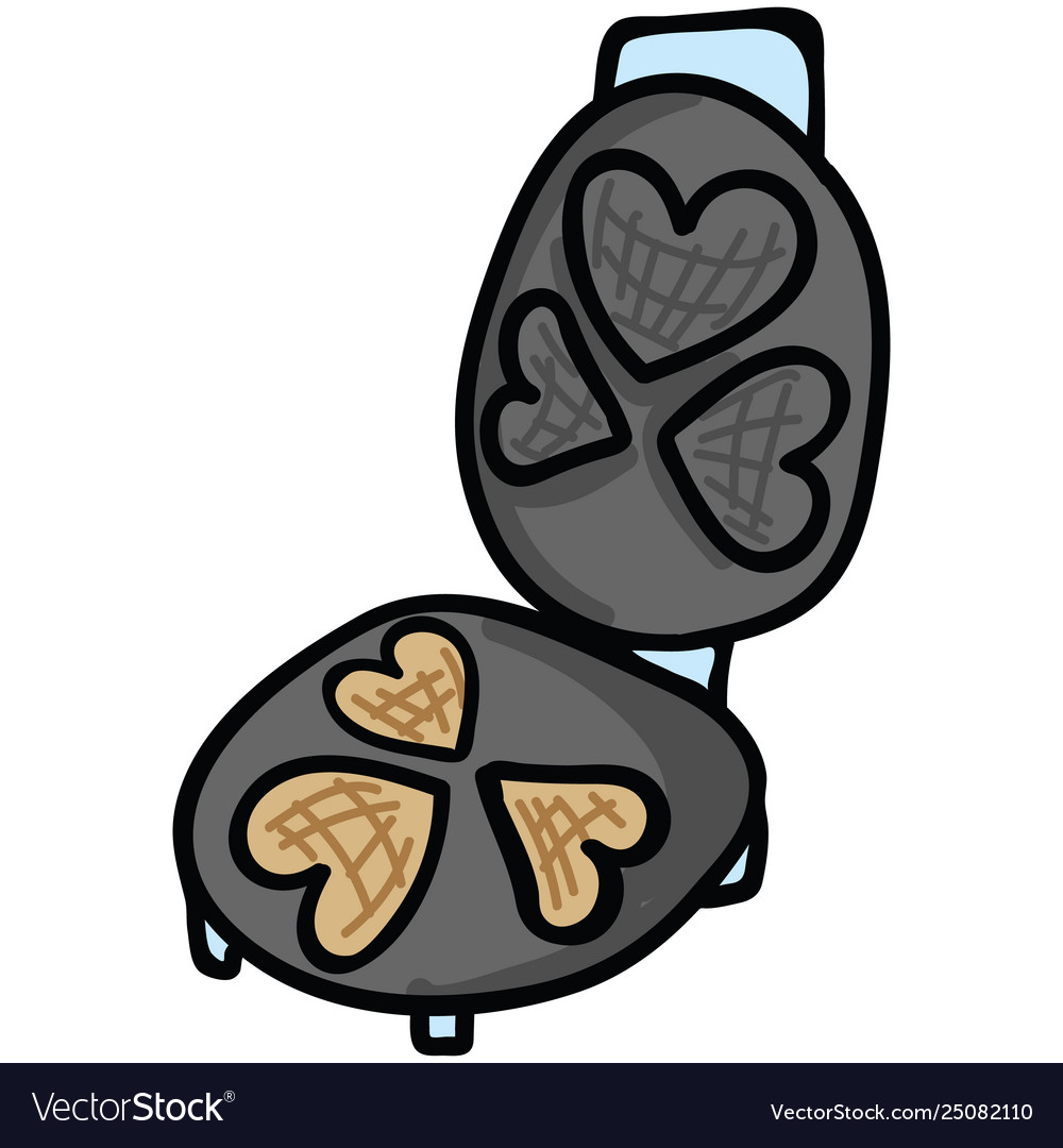 Waffle clipart cute banner download Cute waffle iron cartoon motif banner download