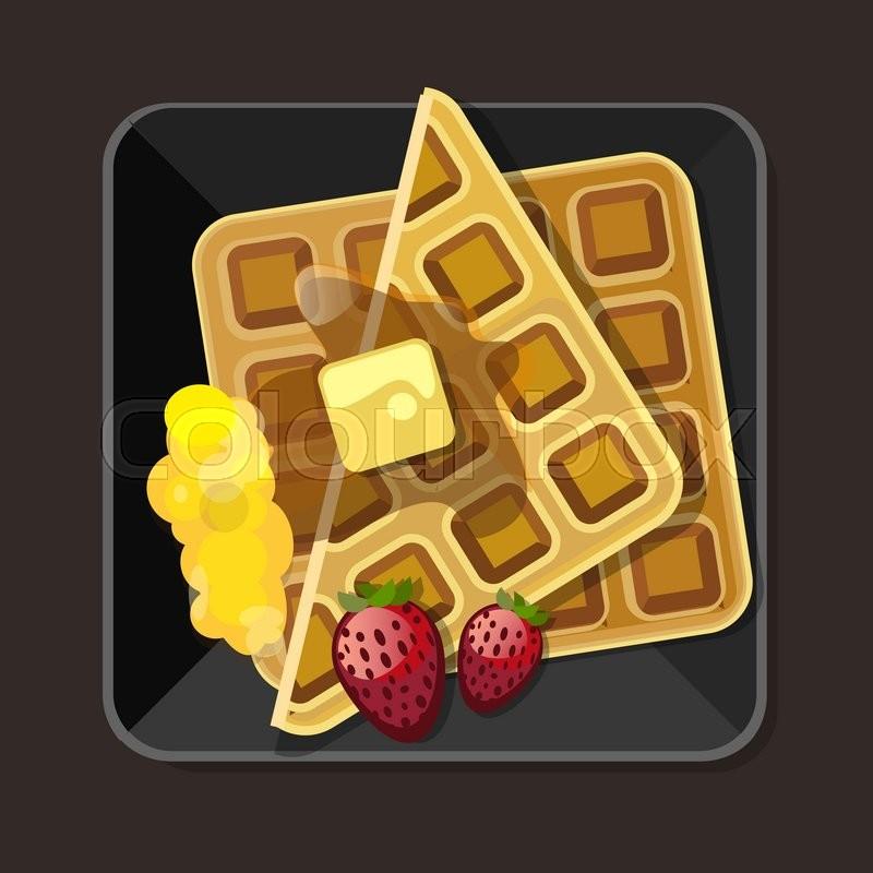 Waffle clipart free jpg freeuse download Breakfast, Illustration, Food, Font, Pattern, Square png ... jpg freeuse download