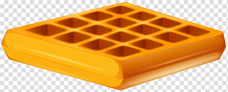 Waffle clipart no background picture library library Square orange container graphic, Ice cream Belgian waffle ... picture library library
