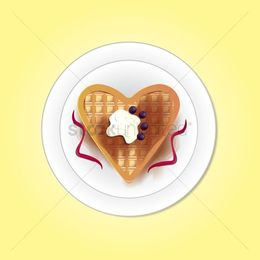 Waffle heart clipart clipart royalty free library Download Vector graphics clipart Belgian waffle Heart clipart royalty free library
