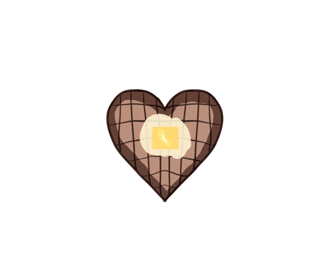 Waffle heart clipart picture black and white Waffle clipart butter, Waffle butter Transparent FREE for ... picture black and white