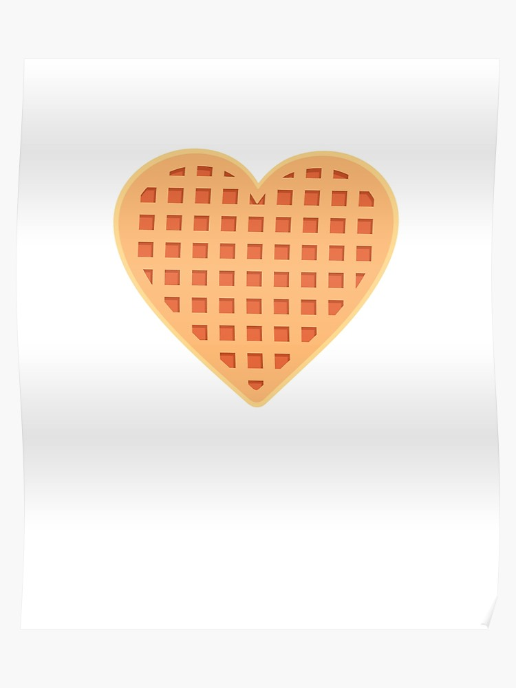 Waffle heart clipart clipart library download Heart Shaped Waffle Friends Don\'t Lie   Poster clipart library download