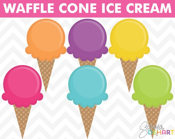 Waffle party clipart vector royalty free download Ice Cream Clipart, Summer Clipart, Birthday Clipart, Party ... vector royalty free download