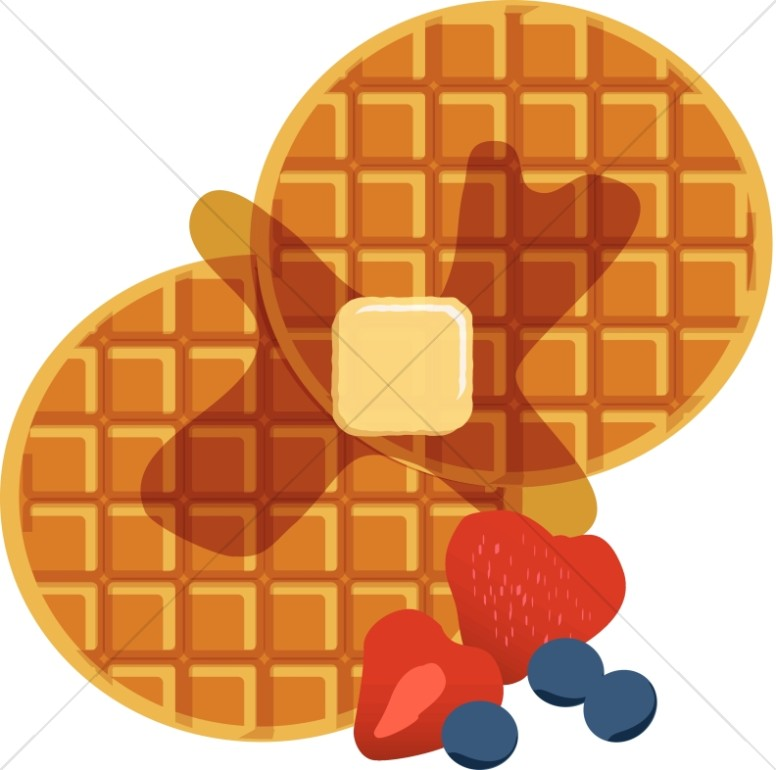 Waffle with mouth clipart picture transparent download Waffles with Syrup | Church Food Clipart picture transparent download