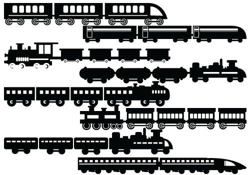 Silhouette train clipart black and white vector black and white Silhouette Clip Art | Silhouette of all clip arts, graphics ... vector black and white