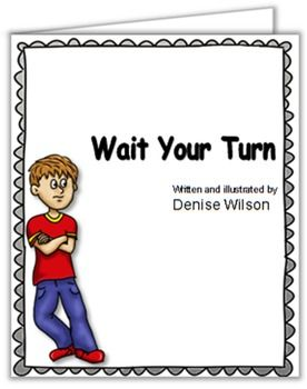 Wait for your turn clipart png library download Social Story PLUS (Illustrated) - Wait Your Turn | My Stuff ... png library download